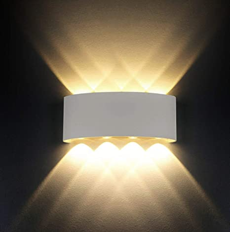 bfe6472c5c27 LED Wall Light Modern IP65 Waterproof 8W LED Sconce Lights Aluminium  Fixture Up Down Decorative Spot Light Night Lamp for Living Room Bedroom  Hall Staircase ...