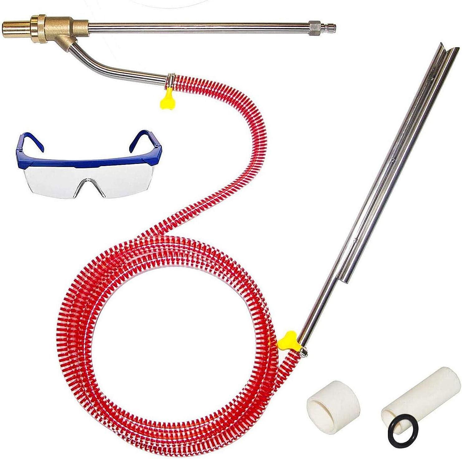 Twinkle Star Pressure Washer Sandblasting Kit, Wet Abrasive Sandblaster Attachment, Dustless Sand Blasting Kit, 1/4 Inch Quick Disconnect, 5000 PSI