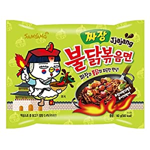 Samyang Bulldark Spicy Chicken Roasted Noodles (Buldak Jjajang, 5 Pack)