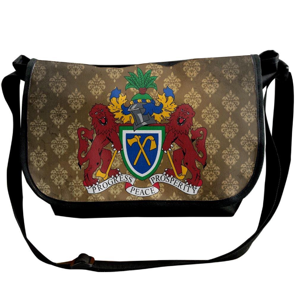 Lov6eoorheeb Unisex Coat Of Arms Of The Gambia Wide Diagonal Shoulder Bag Adjustable Shoulder Tote Bag Single Shoulder Backpack For Work,School,Daily