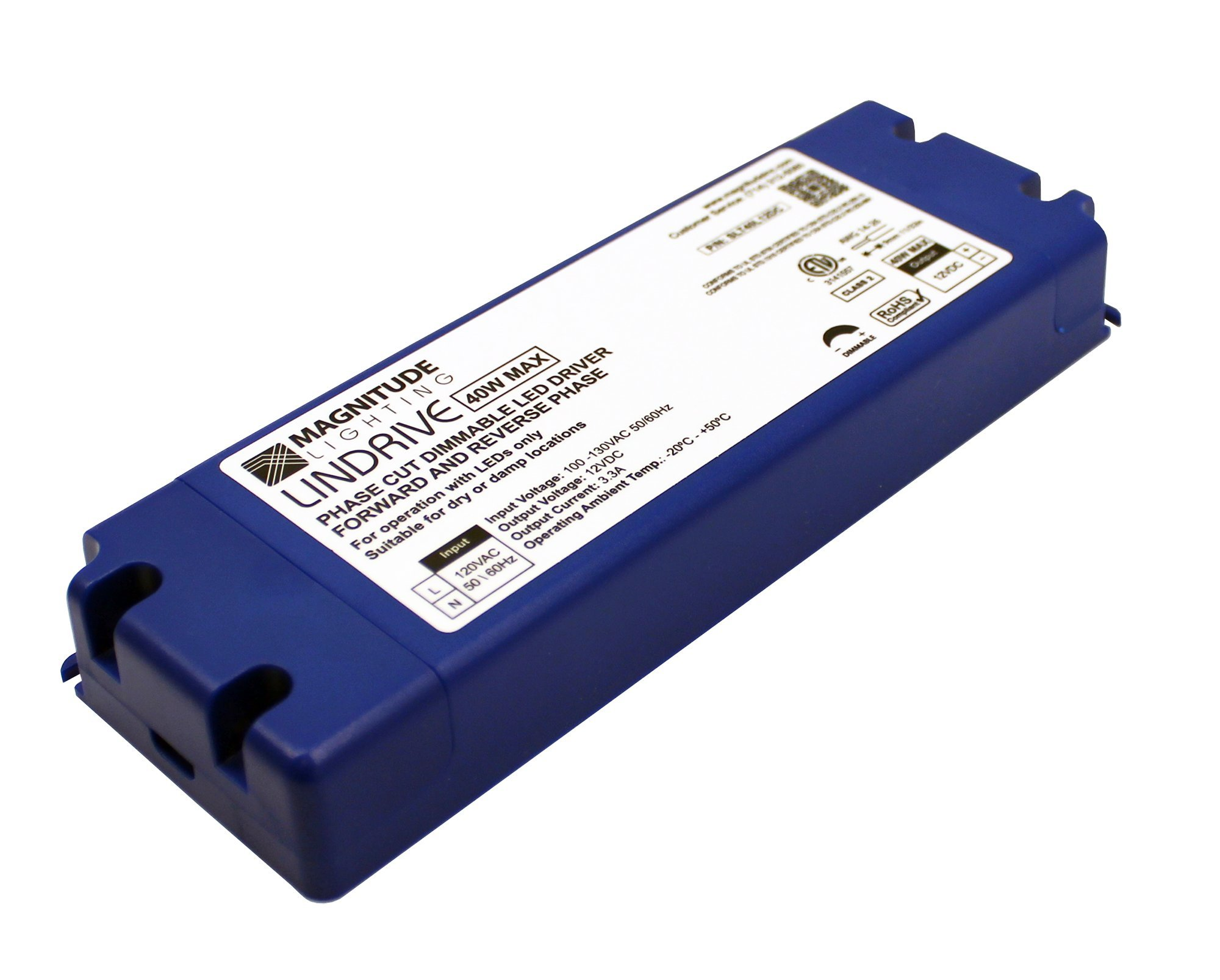 LED Driver - LINDRIVE - Magnitude 40W 12V LED Dimmable Transformer SLT40L12DC from Inspired LED Electronic Series