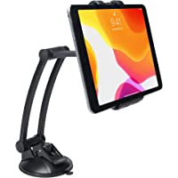 CTA Digital Pad-MJSM - Soporte de Pared para Tablets y Smartphones y iPhone 11, Base de succión, Negro