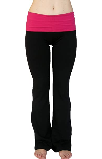 e52f45f069 Amazon.com: N 365 Petite Yoga Pants With Fold Down Waist: Clothing