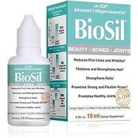 BioSil by Natural Factors, Beauty, Bones, Joints Liquid, Supports Healthy Hair, Skin and Nails, Vegan Collagen, Elastin and Keratin Generator, 0.5 fl oz (60 Servings)