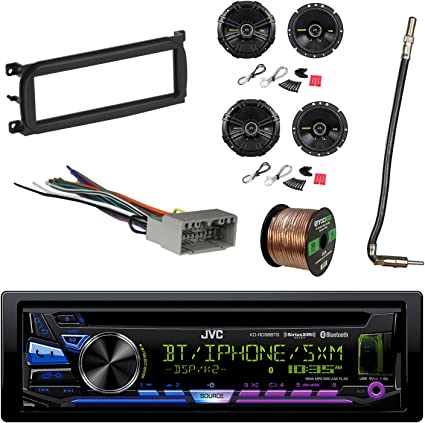 Pioneer Car Stereo Bluetooth USB Dash Kit Harness for 02-up Chrysler Dodge Jeep