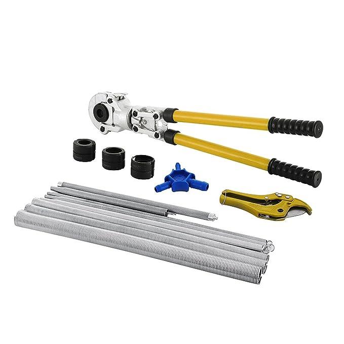 Autovictoria Alicates Prensadores de Tuberías TH Contour 16-32mm Alicates de Presión para Tubos Compuestos PEX PE-X Crimping Tool con Calibradores y ...