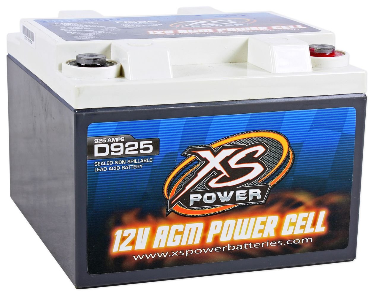 XS Power D925 2000 Amp AGM Power Cell Car Audio Battery + 527 Mounting Kit by XS POWER (Image #2)