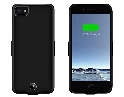 sports shoes c2f60 cf051 Pebble 3200 mAh Charging Case - Charging & Protective Battery Pack Case for  iPhone 6/7/8 – Black (Black)