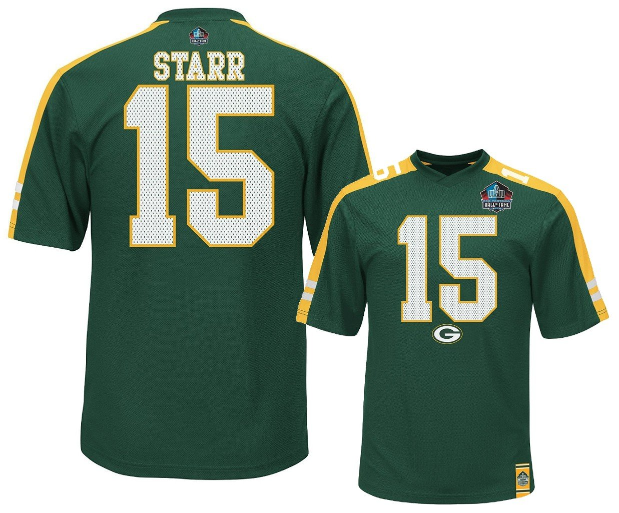 quality design 940ba 3c286 Amazon.com : Bart Starr Green Bay Packers NFL Mens Hashmark ...