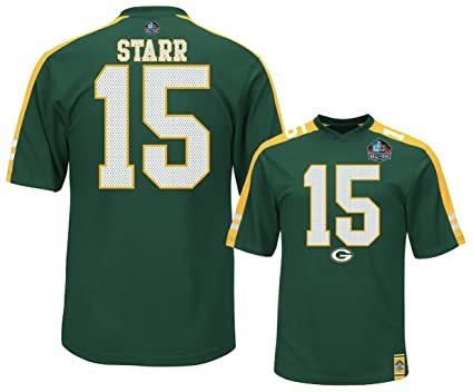 quality design 29376 efdb4 Amazon.com : Bart Starr Green Bay Packers NFL Mens Hashmark ...
