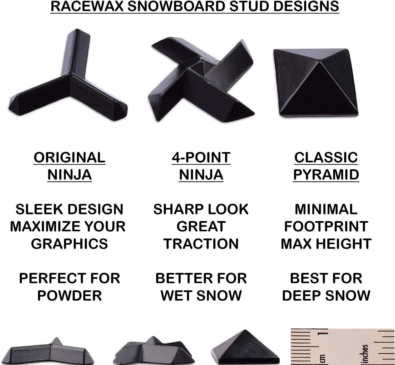 RaceWax Set of 5 Metal Ninja Snowboard Studs Stomp Pad Multi-Colored