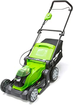 Greenworks 40V Cordless Lawn Mower - Suitable for Small Lawns