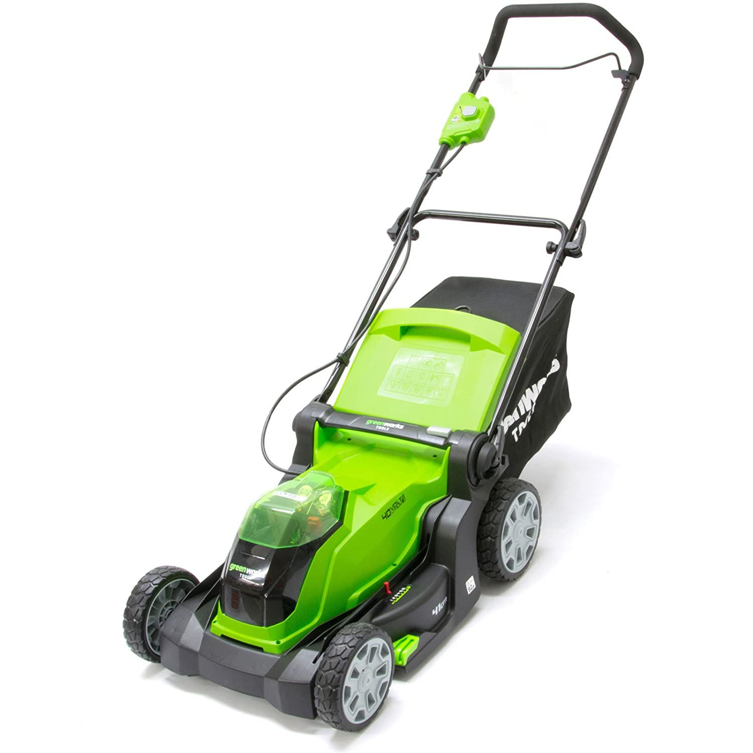 Greenworks 642504707 Cortacésped Inalámbrico, 40 V, Verde: Amazon ...