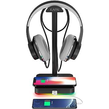 Amazon.com: Soporte para auriculares RGB con cargador ...