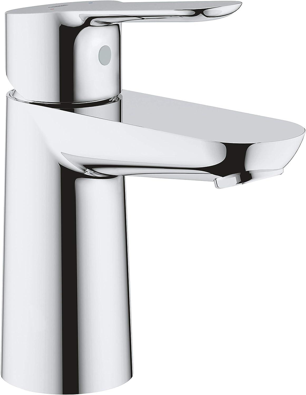 Grohe BauEdge - Grifo de lavabo de baño para instalación en un solo agujero. Tamaño S. Incluye sistema de ahorro de agua (Ref. 23330000)