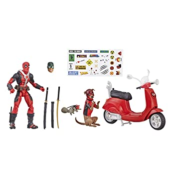 Marvel E4702AS00 E4702 Legends Series Deadpool de 6 Pulgadas con Patinete