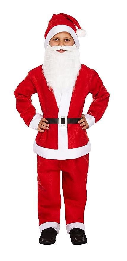 Amazon.com: Niño 5 Piezas Papá Noel disfraz de Navidad, Edad ...