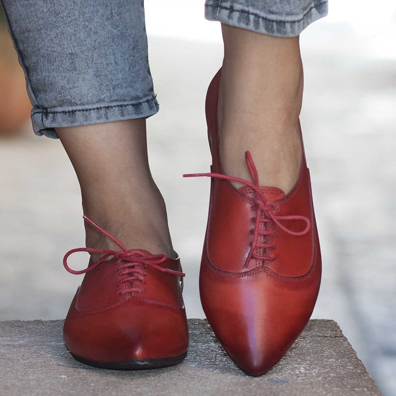 cb979e94e4758 Amazon.com: Camel Women's Handmade leather Oxford Shoes: Handmade