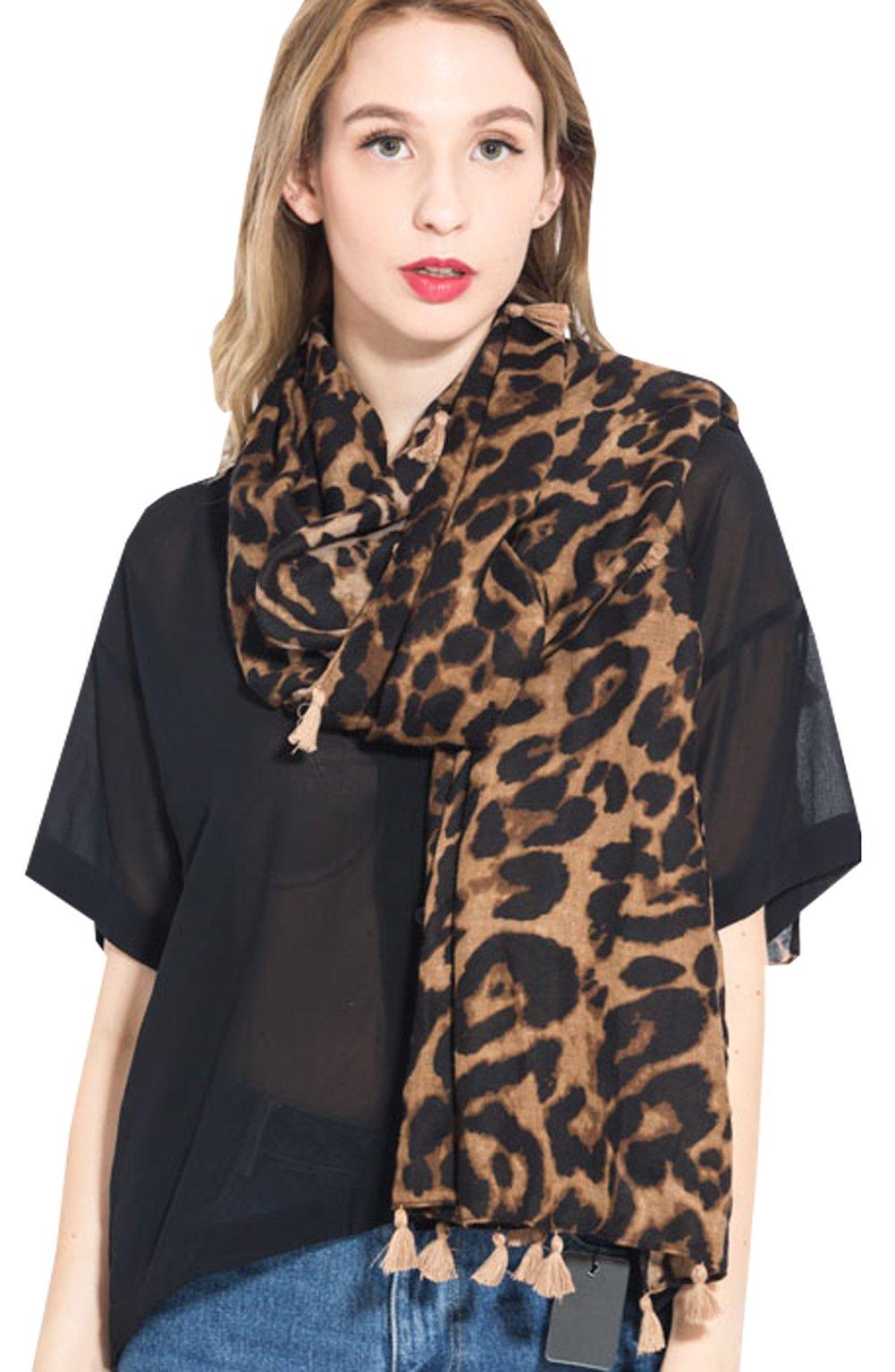 Women Winter Leopard Scarf Warm Long Pashmina Shawls And Wraps Fashion Scarf