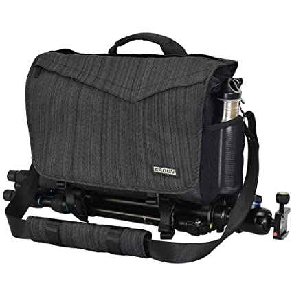 ba6e1f158 CADeN DSLR/SLR Camera Shoulder Messenger Bag with Camera Insert Sleeve Rain  Cover Waterproof,