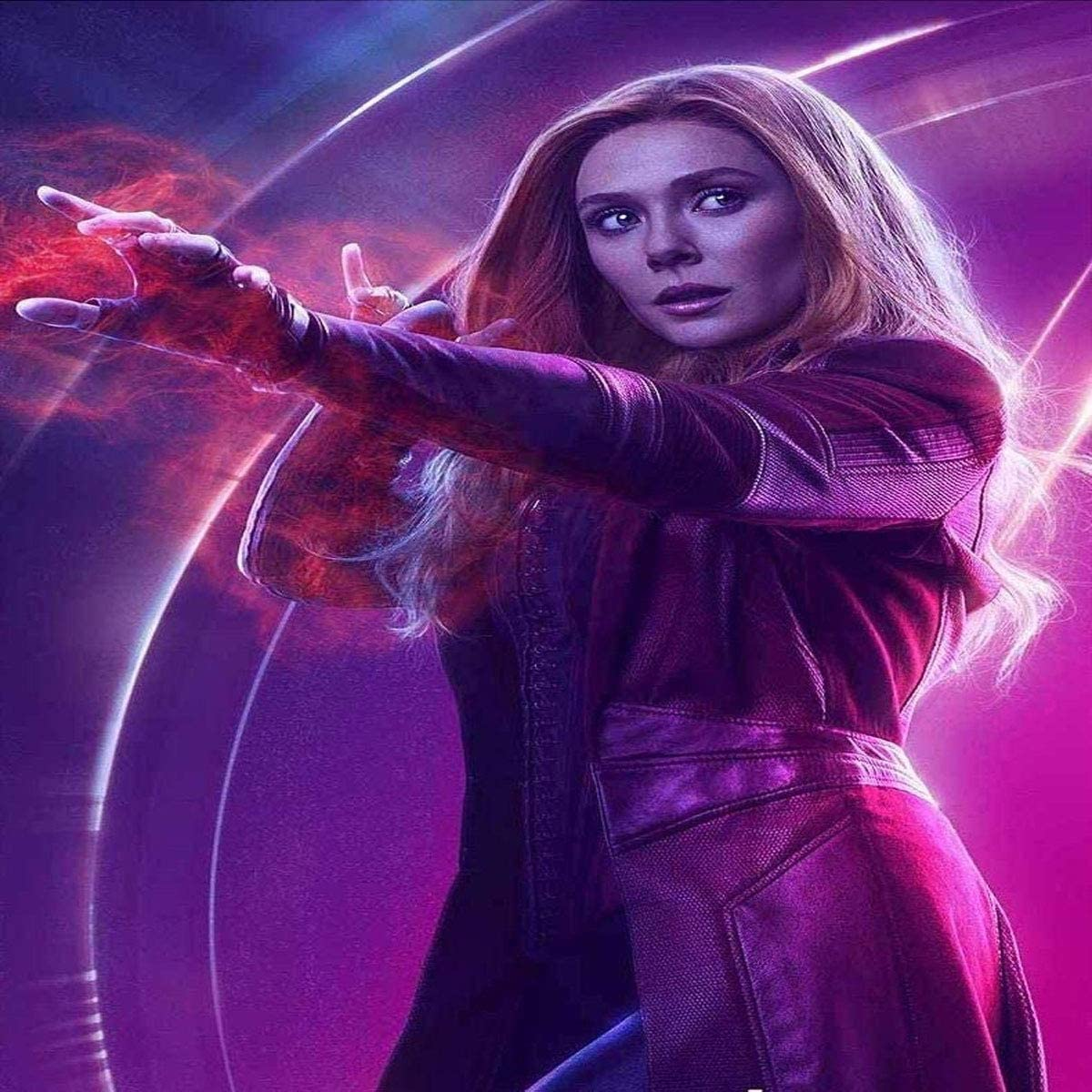 Amazon Com Scarlet Witch The Avengers Infinity War 2018 Elizabeth Olsen 12 X 12 Inches Poster Serene Collections Posters Prints