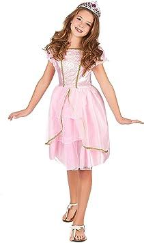 Disfraz princesa rosa y dorado niña - 7 - 9 años: Amazon.es ...