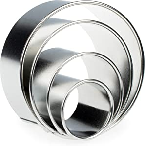 Ring Molds, Stainless Steel Food Ring, Biscuit Cutter Set, Pancake Mold, Cook Ring Set of 4pcs