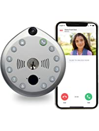 Gate Labs | | WiFi Enabled Home Security Smart Lock with Built-In Camera & Two-Way Audio - Keyless Entry, Battery Powered...