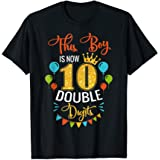 This Boy is Now Double Digits, Birthday Boy 10 year old T-Shirt