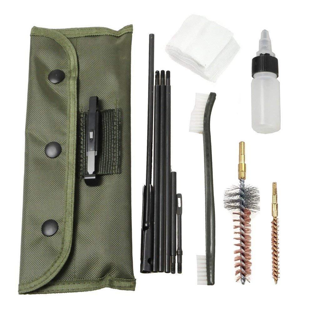FUNANASUN Gun Cleaning Kit Rifle Shotgun Cleaning Kit Set Portable Clean Kit Supplies for 5.56mm .223 .22 Cal