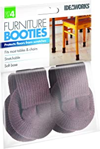 IdeaWorks JB7651BRN Booties-Provides Scratch-Free Furniture Legs-Soft Stylish and Stretchable Material, Brown