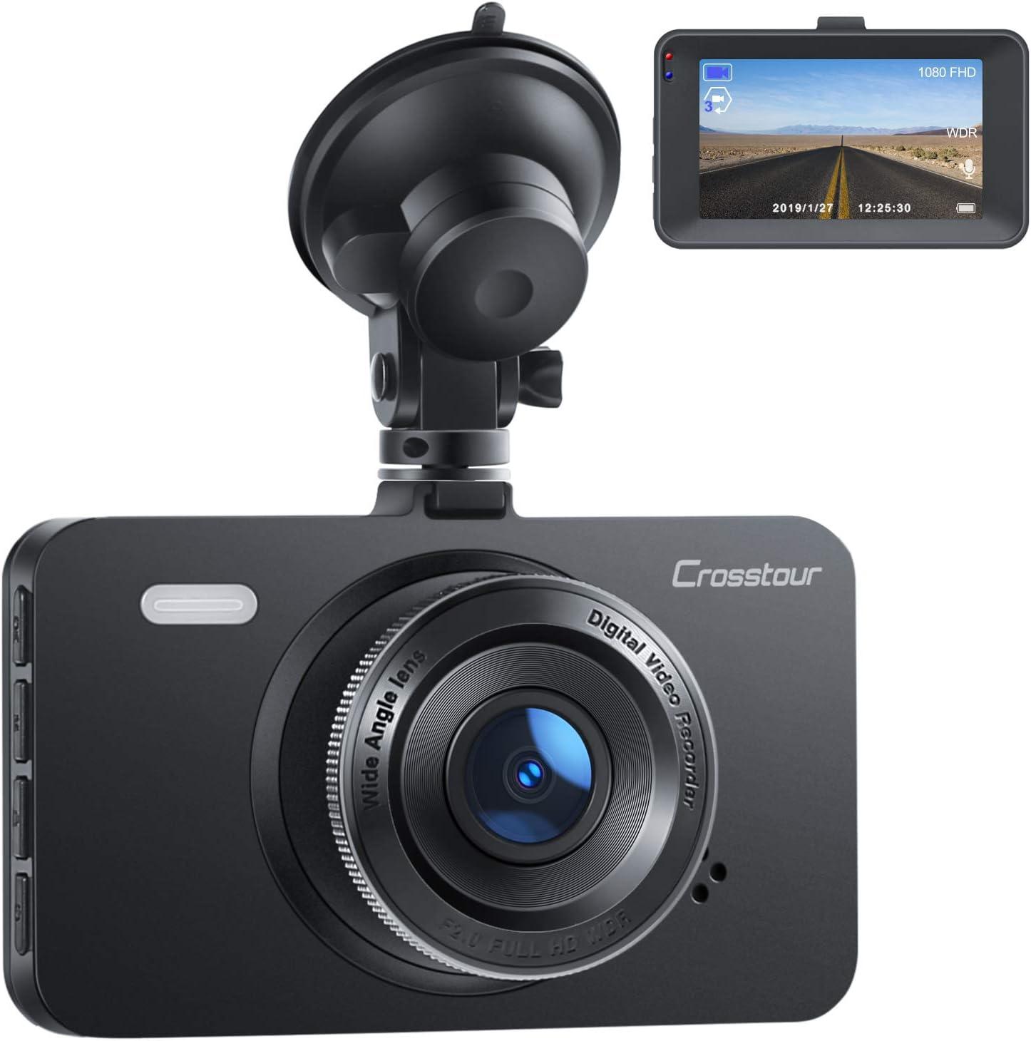 Amazon Com Dash Cam Crosstour 1080p Car Dvr Dashboard Camera