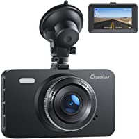 """Dash Cam, Crosstour 1080P Car DVR Dashboard Camera Full HD with 3"""" LCD Screen 170°Wide Angle, WDR, G-Sensor, Loop…"""