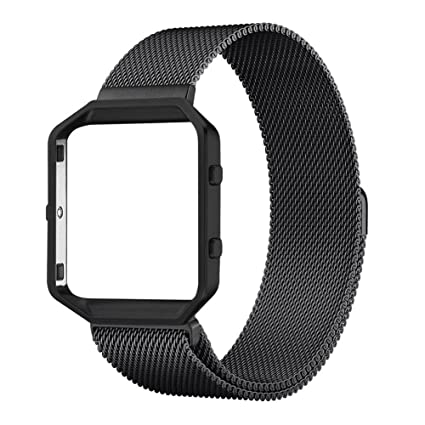 Magnetic Milanese Stainless Steel Watchband Wrist Strap For Fitbit Blaze Tracker