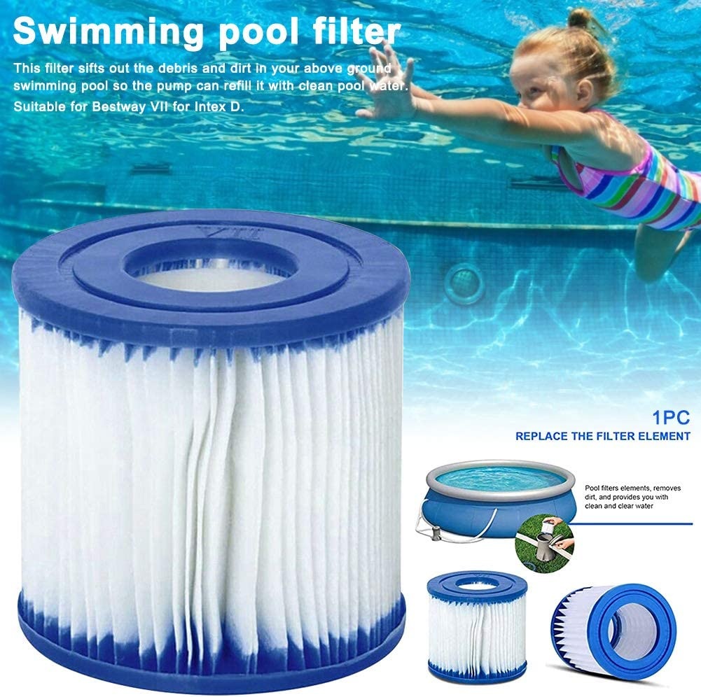 Summer Waves P57100102 Swimming Pool Pump Filter Cartri dge Type D Pool Filter,Swimming Pool Filter Outdoor Cleaning Tool