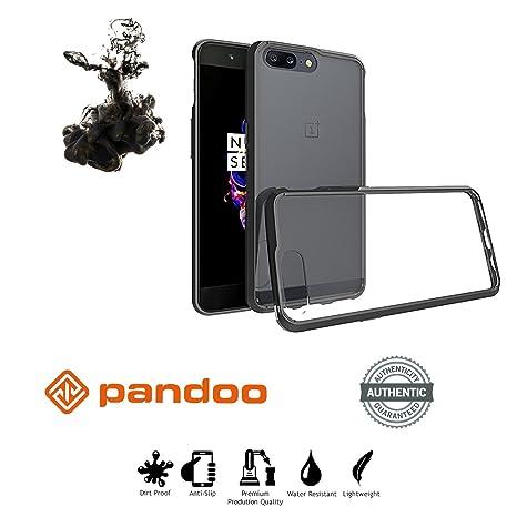 Funda OnePlus 5 Pandoo, Oneplus 5 Caso Carcasa Pandoo, TPU Bumper Case Para 5 COJÍN CONVERGENTE Oneplus Volver Caso Duro Caparazón Protector DROP ...
