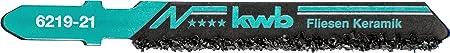kwb Stichsägeblatt für Fliesen und Keramikbearbeitung 621921 (grob, Hartmetall bestreut, Einnockenschaft, T130RIFF) u. a. für