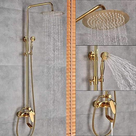BOZNY Sistema de Ducha Mezcladores de Ducha de baño Dorado Juego ...