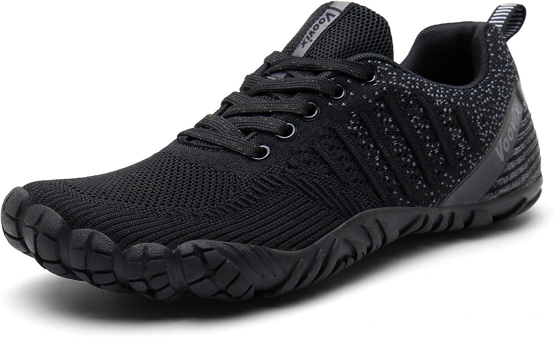 Voovix Herren Trekkingschuhe Damen Wanderschuhe Barfu/ßschuhe Laufschuhe Traillaufschuhe Knit Sneaker Fitnessschuhe im Sommer