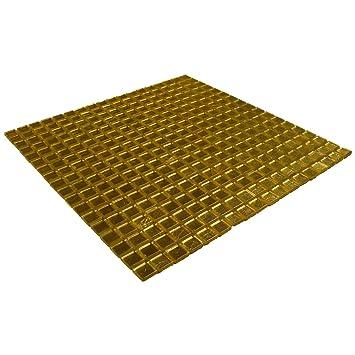Glasmosaik Gold Fliesen Küche 30 x 30 cm Glasfliesen Bad ...