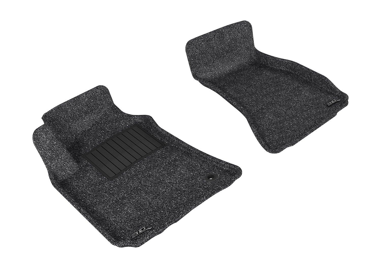 3D MAXpider Front Row Custom Fit Floor Mat for Select Dodge Challenger Models Classic Carpet L1DG01512201 Gray