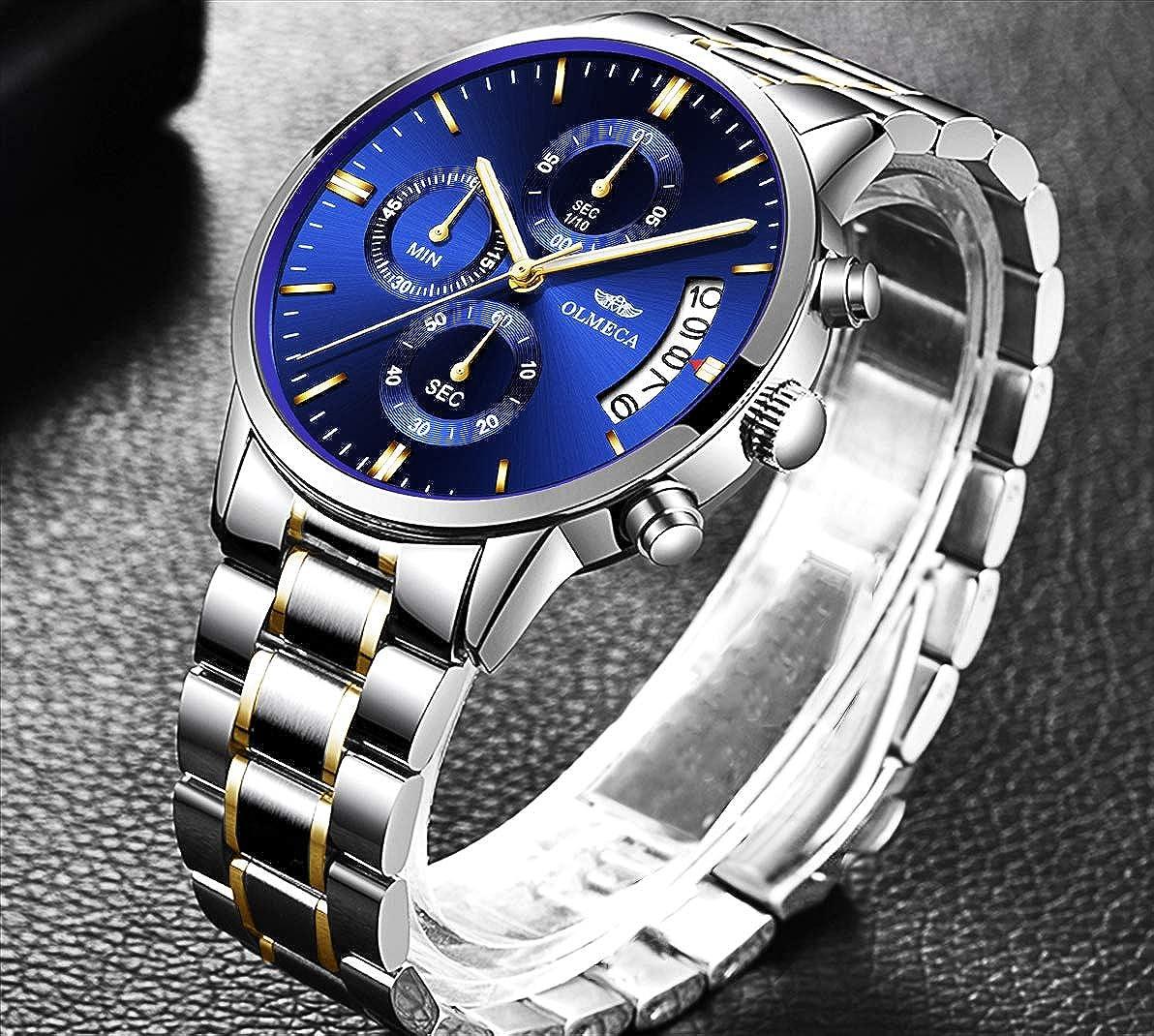 Amazon.com: OLMECA Mens Watches Luxury Wristwatches Rhinestone Watches Waterproof Fashion Quartz Watches Women Watch Stainless Steel Watch 0869M-JJLMgd: ...