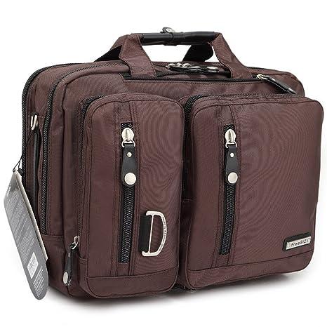 FreeBiz - Bolsa para ordenador portátil de 15 pulgadas multifunción - maletín para laptop con asa de transporte ...