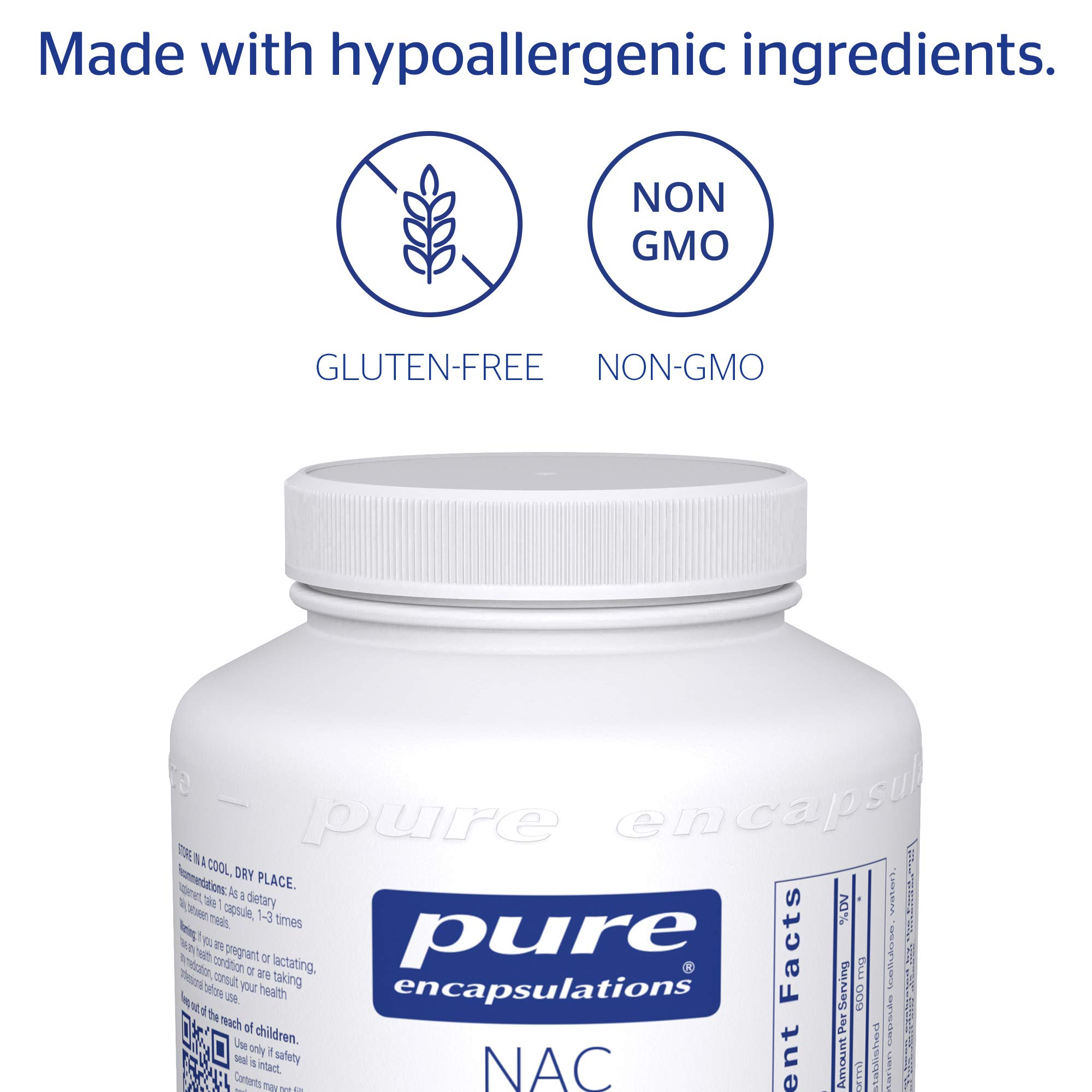Pure Encapsulations - NAC (N-Acetyl-L-Cysteine) 600 mg - Amino Acids to Support Antioxidant Defense and Healthy Lung Tissue - 360 Capsules by Pure Encapsulations (Image #4)