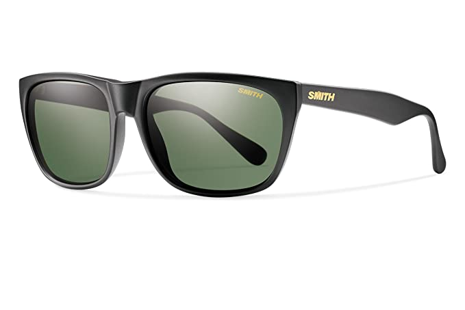 Smith Optics TOPPGNMB Tioga Black Frame para hombre Green Lens Square Lifestyle Gafas de sol polarizadas: Amazon.es: Ropa y accesorios