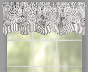 n polyester valances saturday home scarves the depot valance grey b treatments in gray knight dove window l