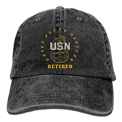 US Navy - CPO Chief Petty Officer Retired Jeans Caps Retro Denim Hat For  Adults 9043f6dcffe