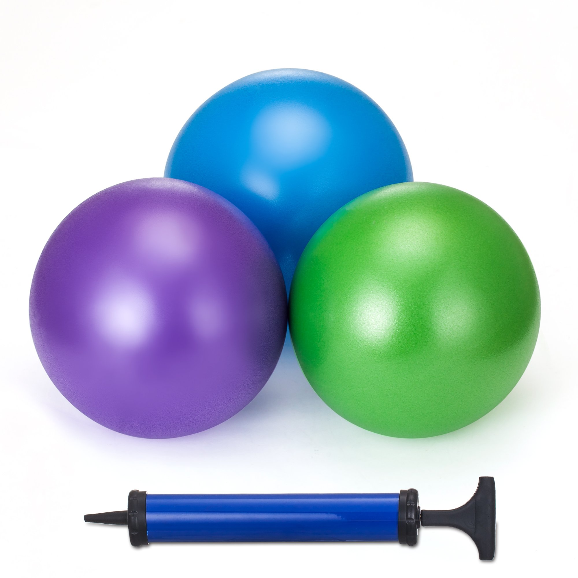 9.8Inch Beach Balls Inflatable Beach Pool Party Toys for Adults and Kids Water Fun Play in Summer (3 Pack) (Purple+Green+Blue)
