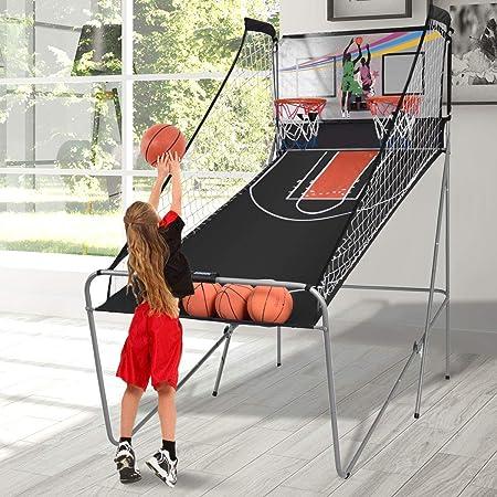 Macchina da pallacanestro elettronico canestro da basket gioco pieghevole, con contatore elettronico e 4 palle SP35202IT