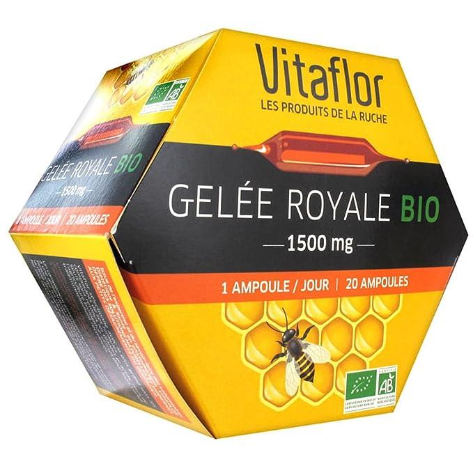 Vitaflor Organic Royal Jelly 1500mg 20 Phials by Vitaflor: Amazon.es: Salud y cuidado personal